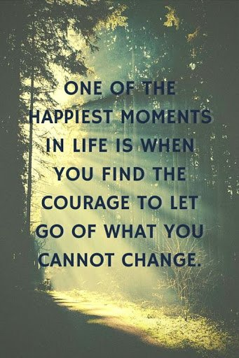 Quote about Letting Go. One of the happiest moments in life is when you find the courage to let go.
