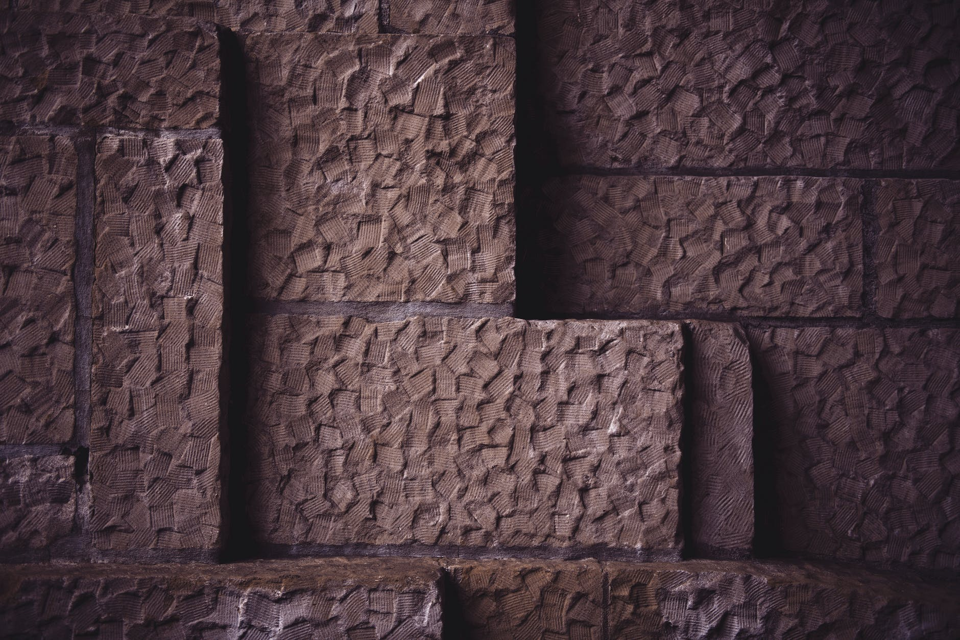 red textured brick wall